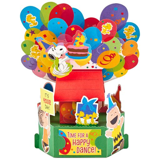 PeanutsR Happy Dance Pop Up Birthday Card