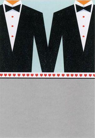Two Wedding Tuxedos Wedding Card