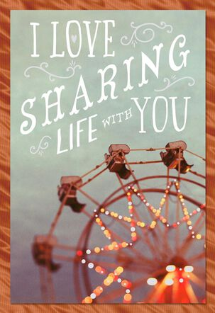 Sharing Life's Adventures With You Romantic Sweetest Day Card