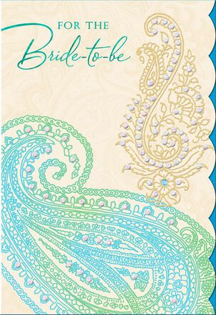 A Beautiful Day for a Bride-to-Be Wedding Card