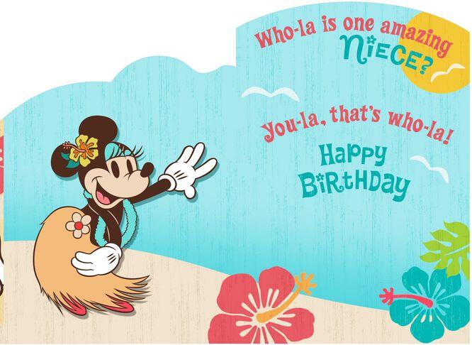 Luau Minnie Mouse Birthday Card for Niece Greeting Cards Hallmark – Birthday Card Niece