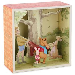 Pooh and Gang at Tree Base Shadow Box With Figurine, , large