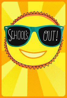 Sun in Shades Graduation Card,