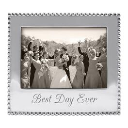 Best Day Ever Silver Aluminum Wedding Photo Frame, 5x7, , large