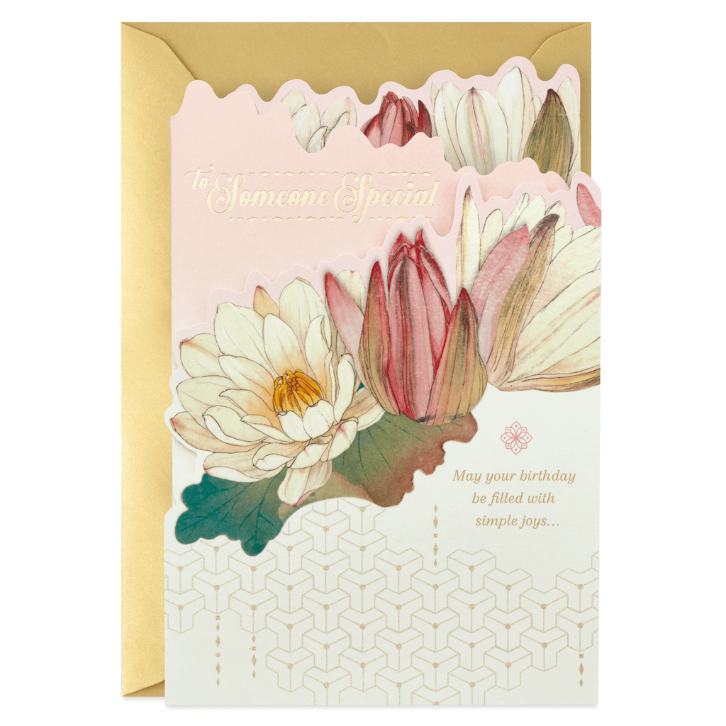 Lotus Flowers For Someone Special Birthday Card
