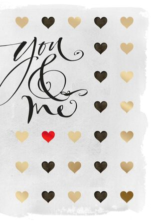 You & Me Calligraphy Valentine's Day Card