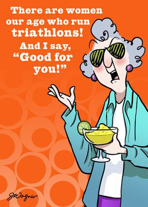 Triathlon or Try-A-Margarita Funny Birthday Card