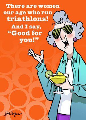 Triathlon or Try-A-Margarita Funny Birthday Card
