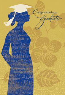 UNICEF Glitter and Gold Graduation Card,