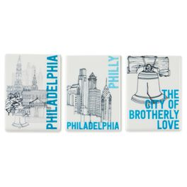 Philadelphia Magnets, Ceramic Set of 3, , large
