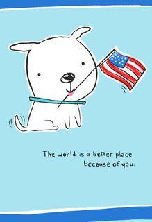 Patriotic Pup Veterans Day Card,