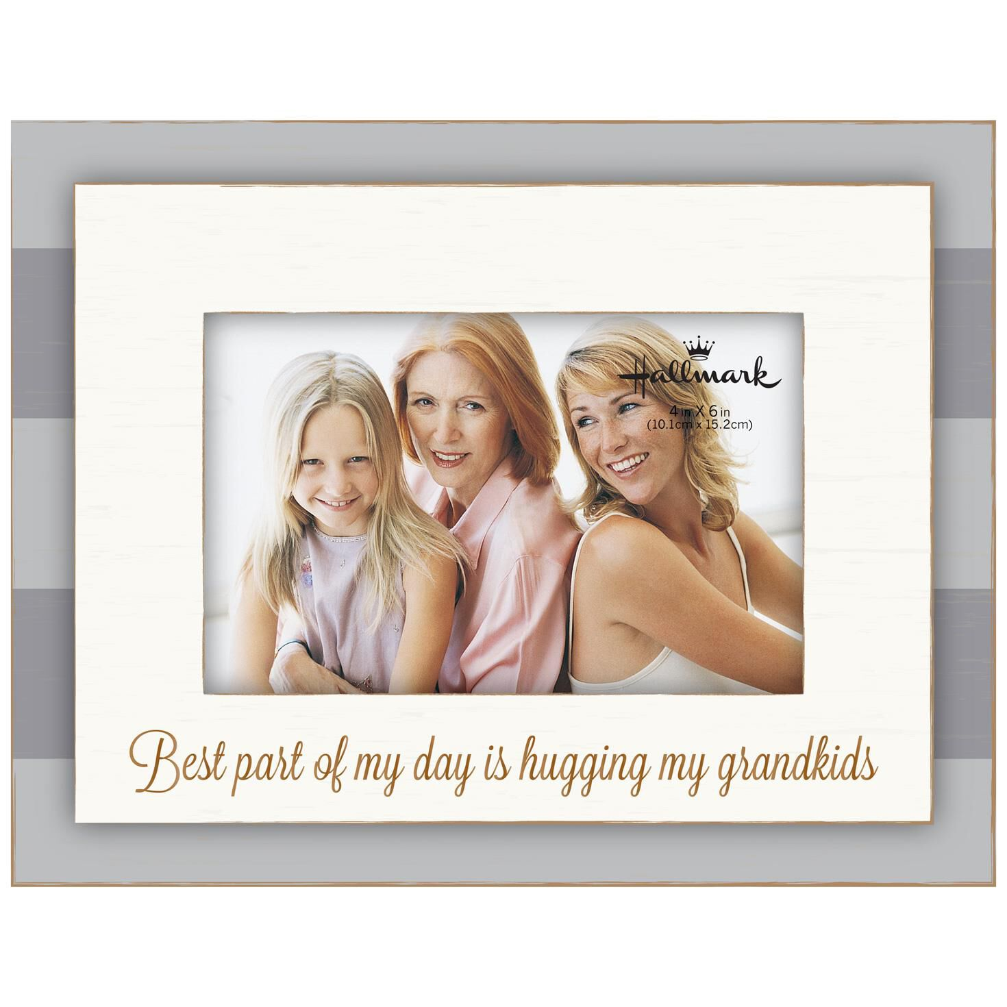 Grandkids Stripe Wood Photo Frame, 4x6 - Picture Frames - Hallmark