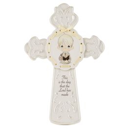 Precious Moments® First Communion Boy Cross with Easel Stand, , large
