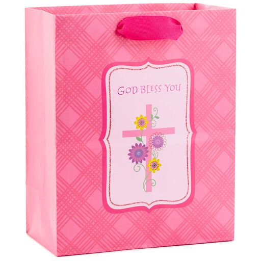 Pink God Bless You Medium Gift Bag 95