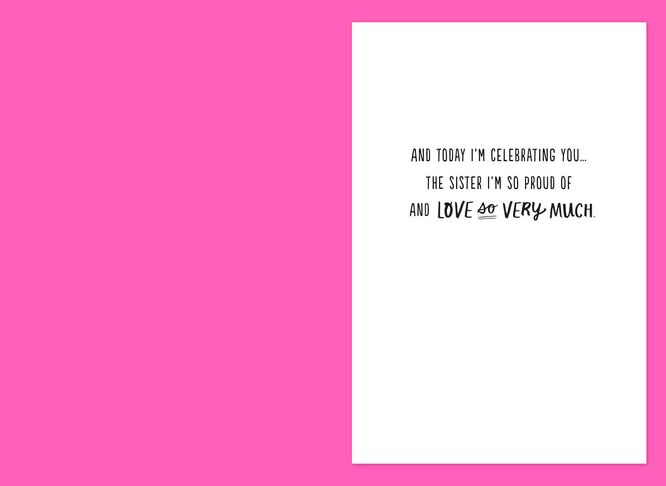 Im celebrating you birthday card for sister greeting cards hallmark im celebrating you birthday card for sister m4hsunfo