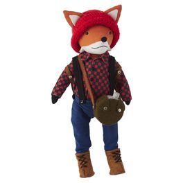 Fox with Hiking Gear Premium Stuffed Animal, , large