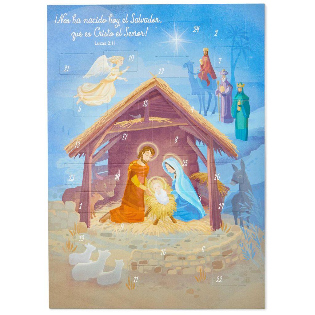 Spanish-Language Nativity Scene Advent Calendar - Decorative ...