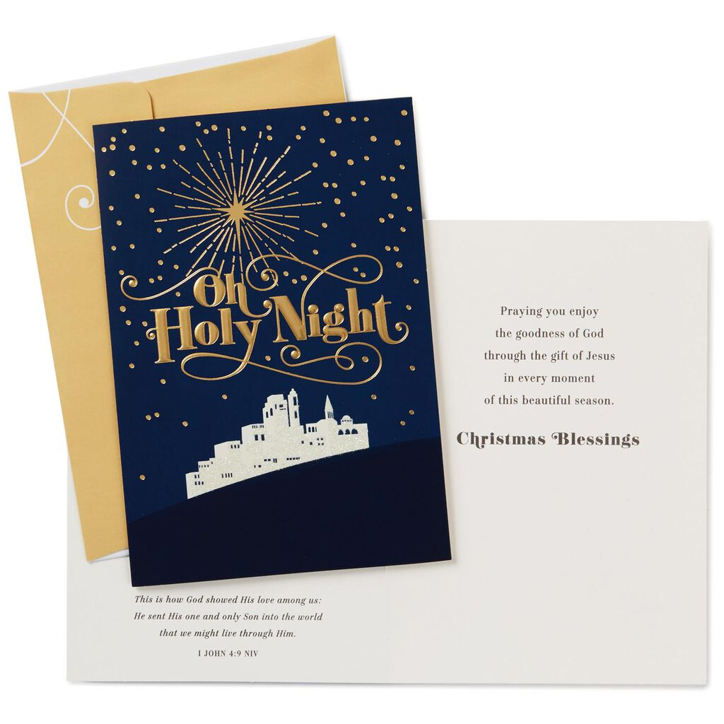 Oh Holy Night Religious Christmas Cards, Box of 16 - Boxed Cards ...