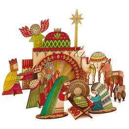 Nativity Coloring Wooden Art Kit, , large