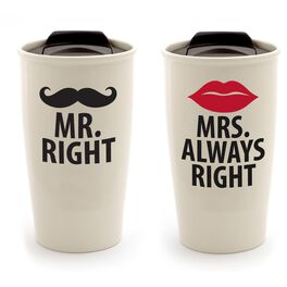 Our Name is Mud Mr. & Mrs. Travel Mugs, Set of 2, , large