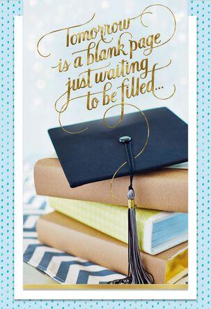Tomorrow Is a Blank Page Graduation Card