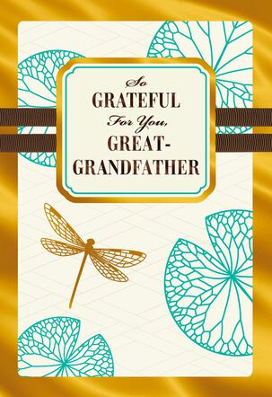 Dragonfly Father's Day Card for Great-Grandfather