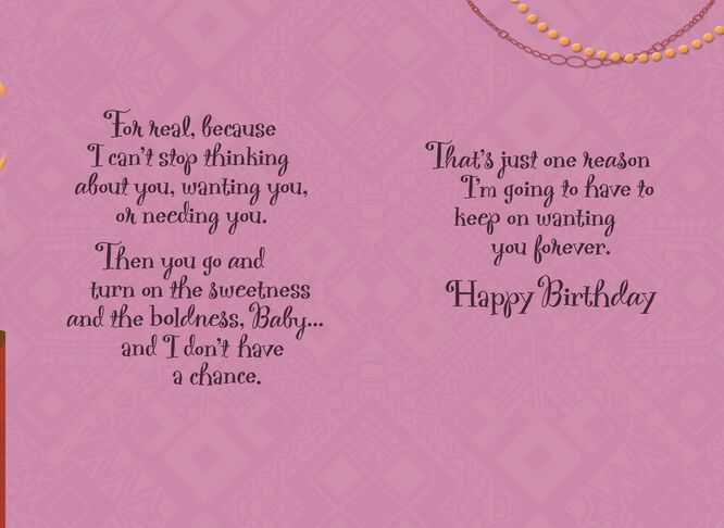 BlingedOut Wife Happy Birthday Card Greeting Cards Hallmark – Happy Birthday to Wife Card