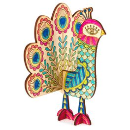 Peacock Coloring Wooden Art Kit, , large