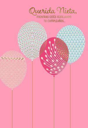 Celebrating You, Granddaughter Spanish-Language Birthday Card