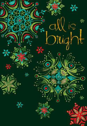 All Is Bright Christmas Card