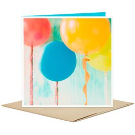 Colorful Balloons Blank Card, , large