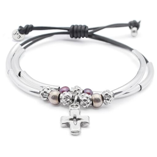 Joy Collection By Lizzy James Faith Leather Bracelet Jewelry Hallmark