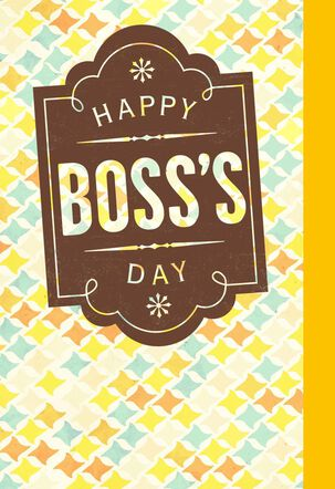 Celebrating and Honoring You Boss's Day Card