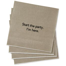 Start the Party Beverage Napkins, Pack of 20, , large