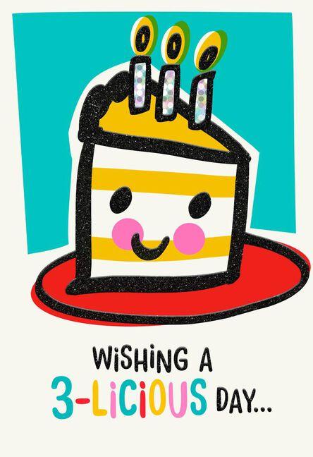 Piece Of Cake 3rd Birthday Card Greeting Cards Hallmark