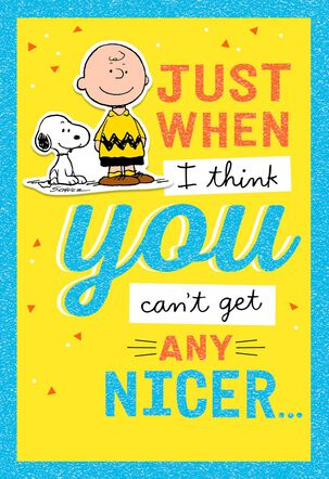 Peanuts® You Are Nice Thank You Card