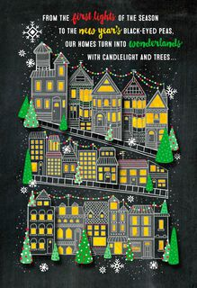City Lights Christmas Card,