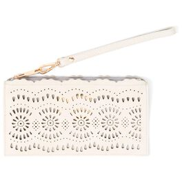 Mark & Hall Scalloped Wristlet, Ivory, large