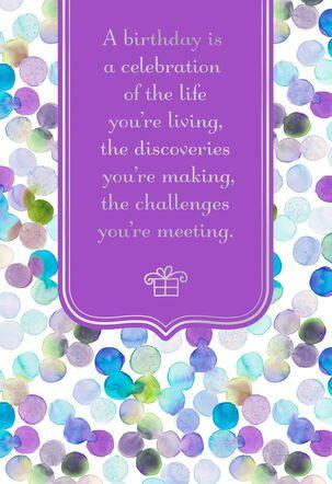 Celebration of Life Confetti Birthday Card
