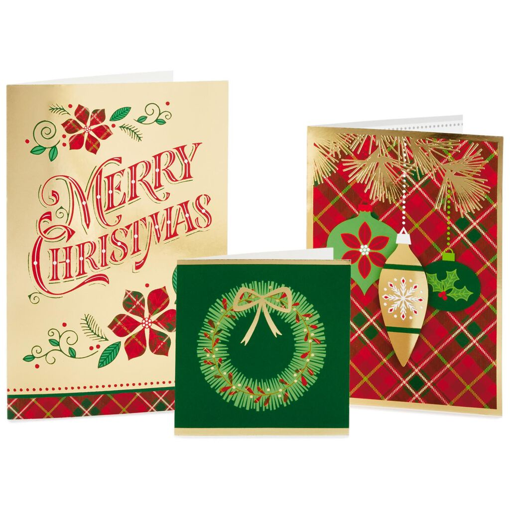 House-shaped Assortment Box Christmas Cards With 3 Designs, Box of ...