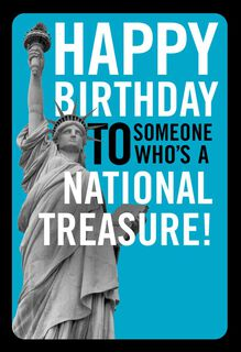 Statue of Liberty Funny Birthday Card,