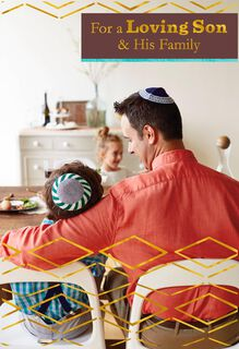 For a Loving Son and His Family Passover Card,
