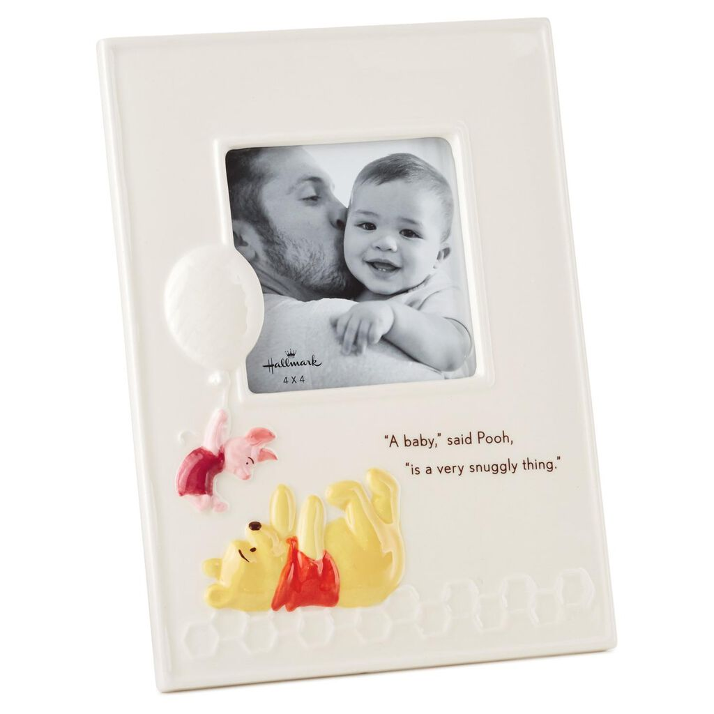 Winnie the Pooh Baby Ceramic Square Picture Frame, 4x4 - Picture ...