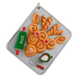 Season's Treatings Reindeer Ornament, , large