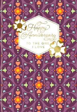 Our Love Is a Precious Gift Anniversary Card