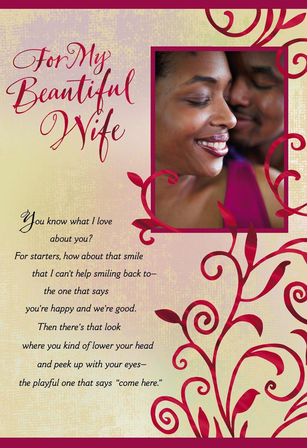 All I Want Wife Birthday Card