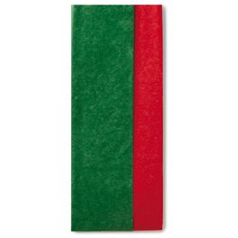 Red/Kelly Green Dual-Pack Tissue Paper, 8 Sheets, , large