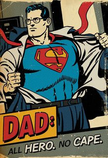 Dad is My Hero Father's Day Sound Card,