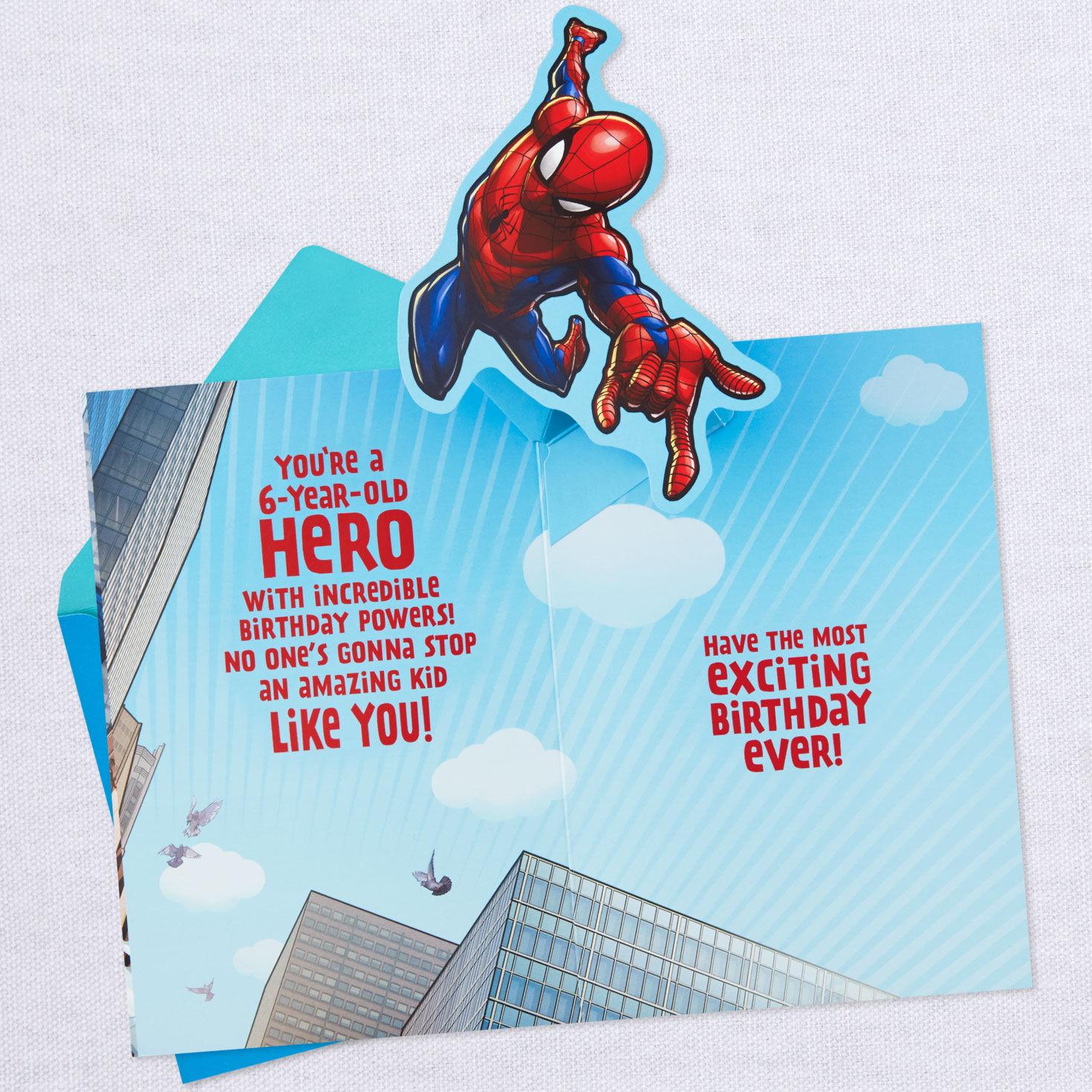 Son Birthday Card Marvel Spiderman Pop Up