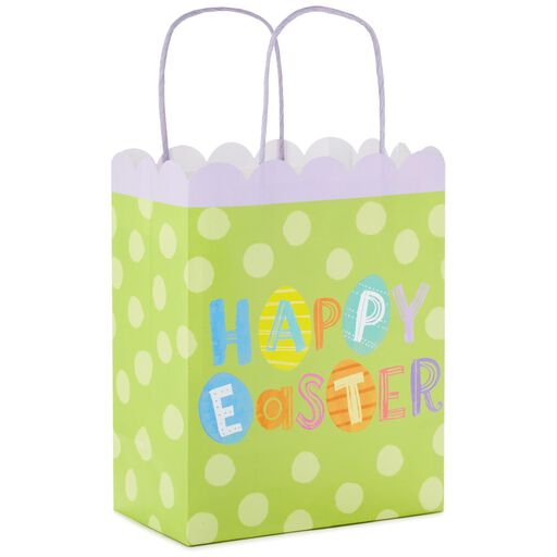 Happy Easter on Green Medium Gift Bag 335a13d8d8357